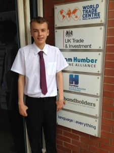 15 year old Alex Piercy who joined the Humber LEP on work experience