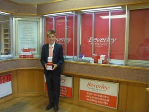 Sam Barber, Beverly Grammar Studenton work experience with Beverley Building Society