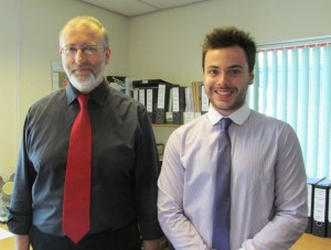 James Newton with Senior Project Manager, John Hubble
