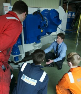 Apprentice training at Engineering and Renewable Energy Centre Grimsby Institute of Further and Higher Education
