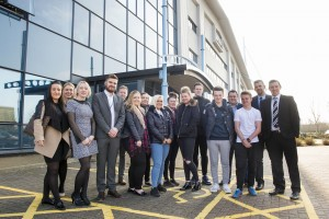 11 March 2016: Visit by students from the Hull FC Foundation to ARCO NDC where they were given a tour and had mock job interviews. Picture: Sean Spencer/Hull News & Pictures Ltd 01482 772651/07976 433960 www.hullnews.co.uk   sean@hullnews.co.uk