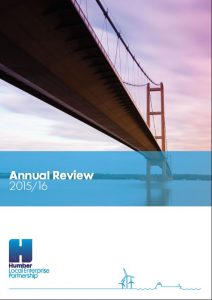 Humber LEP Annual Review 2016 front cover