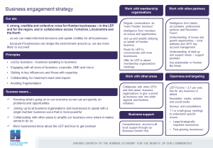 LEP Business Engagement Strategy