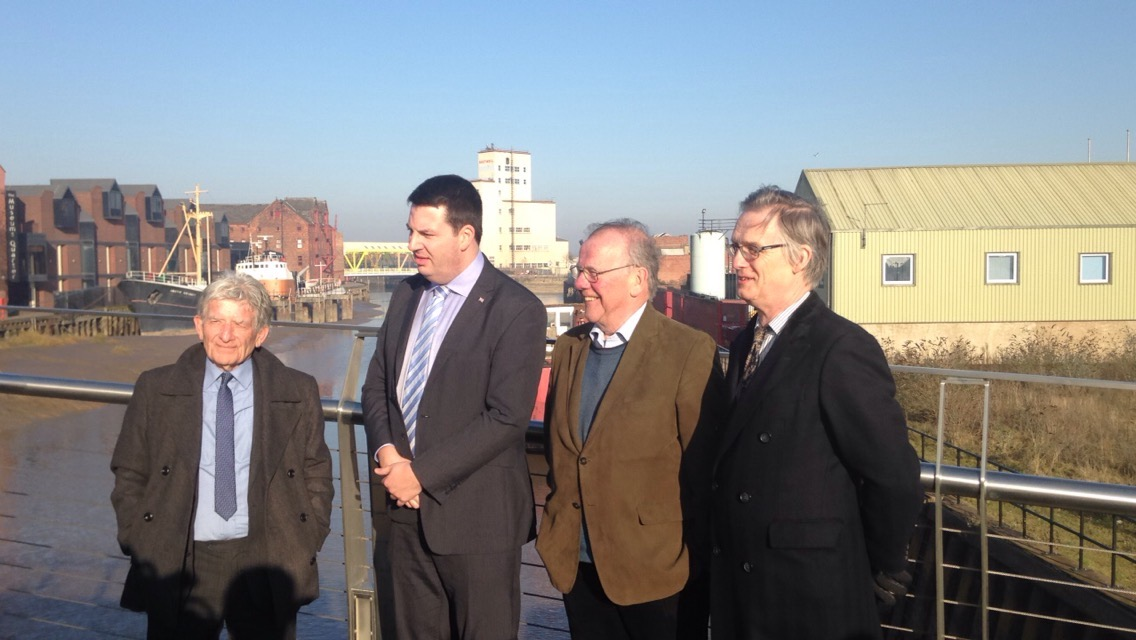From left: Cllr. Stephen Brady, Andrew Percy, Lord Haskins and Cllr. John Farehan.